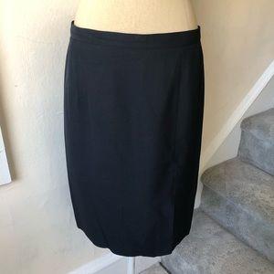 Rena Lange 100% Silk Front Slit Pencil Skirt EUC